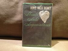 Should Auld Acquaintance by Doris Miles Disney, 1st Edition 1962, Very Good