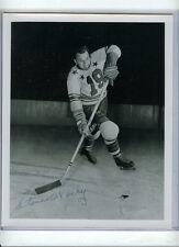 STEVE WOCHY SIGNED 8x10 PHOTO AUTO/AUTOGRAPH 54 GAMES DETROIT REDWINGS 1944-47