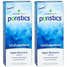 2 PURISTICS TOTALLY AGELESS NIGHT RECOVERY CREAM ANTI AGING TREATMENT FREE SHIP