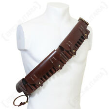 BRITISH P1882 BROWN LEATHER BANDOLIER - Repro WW2 Military Army UK Ammo Pouch