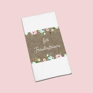 """50 x Banderole """"Für Freudentränen"""" Hochzeitsdeko, Gastgeschenk Hochzeit"""