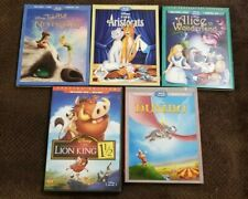 5 Disney Blu-rays / DVDs - Dumbo, Aristocats, Alice, Tinkerbell, Lion King