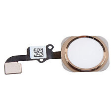 White Gold Home Button With Flex Cable Touch ID For iPhone 6S 4.7""
