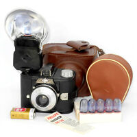 Vintage#agfa_clack 6x9cm camera,filter#Agfa_flash#Philips_flash_lamps,cases