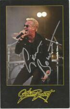Graham Bonnet Post Card * by Graham Bonnet  (2011)  Original Signed