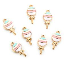 10Pc Kawaii Lollipops Enamel Charm Pendant DIY Necklace Bracelet Earrings Making