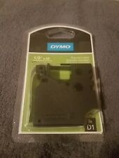"DYMO 45113 D1 BLACK ON WHITE 1/2"" 23' New in opened package"