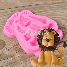 Sugar Buttons LION Silicone Mould Cozinha Fondant Cake Molds Cupcake Soap Mold