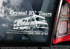 'Crystal RV Tours' - Breaking Bad Car Window Sticker - Heisenberg Meth Lab Sign