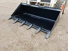 "BRAND NEW 60"" TOOTH BUCKET POWDER COATED FOR SKID STEER LOADER - FREE SHIPPING"