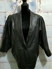 Vintage EL TORO 80s Leather Batwing Black Jacket Womens L/XL EUC
