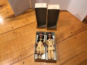 Native American Dolls Vintage Plastic Leather & Beaded Outfit How And Arrow MINT