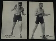 1926/28 - GENE TUNNEY - WORLD HEAVYWEIGHT CHAMPION - EXHIBIT CARD (2) - ORIGINAL