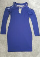 BNWT *LIPSY *, Size 10 blue cold shoulder embellished bodycon dress, new