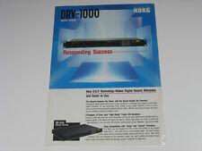 KORG DRV-1000 DIGITAL REVERB 2-sided brochure