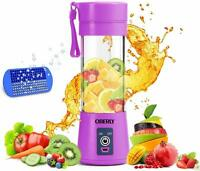 Personal Portable Blender Smoothies Juicer Cup Fruit Mixer USB Rechargeable NEW