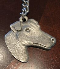 Rare Vintage Fox Terrier Dog Rawcliffe Pewter Keychain Key Chain Smooth Wire