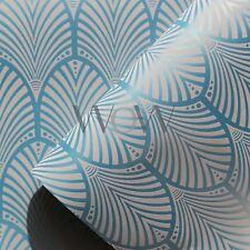 GATSBY ART DECO WALLPAPER TEAL - HOLDEN DECOR 65253 METALLIC NEW