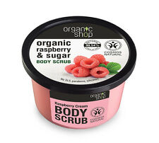 Organic Shop Organic Raspberry & Sugar Body Polish Scrub 250ml No SLS parabens