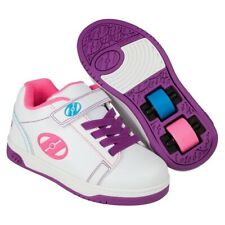 New listing Heelys X2 Dual Up White Multi Neon Roller /Skating Shoes youth size 3