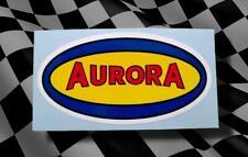 Vintage Style AURORA • Retro Model Kit • HO Slot Car • Sticker • Pit Box Decal