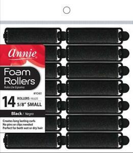 """Annie Small Foam Rollers - Hair Rollers - 5/8"""" Diameter - 14-Pack - *BLACK*"""