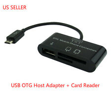 Micro SD Card Reader USB Hub for Samsung Galaxy S2 S3 S4 S5 Note 2 3 Tab 3 Pro