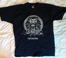 THE LION KING BROADWAY Musical T SHIRT L Silver Sparkle black