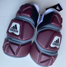 adidas Freak Flex Mens Lacrosse Custom Arm Pads XL Maroon White New NWT DN9855