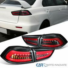 For Mitsubishi 08-17 Lancer EVO X Pearl Black LED Tail Lights Brake Lamps Pair