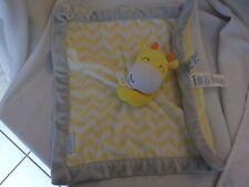 "Carters Yellow Chevron Giraffe Gray Security Blanket Lovey zigzag gray baby 14"""