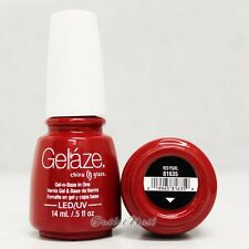 Gelaze China Glaze LED UV Gel Nail Color Polish 0.5 oz - Red Pearl 81635