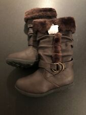 Lucky Top Brown Faux Fur Boots Size 12