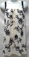 NANETTE LEPORE PLUS SIZE TANK TOP LONG SLEEVELESS TRIM EMBROIDERED TOP 2X NEW