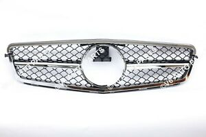 REF8 FRONT RADIATOR GRILLE FOR 2007 - 2014 MERCEDES C-CLASS W204 SALOON CHROME