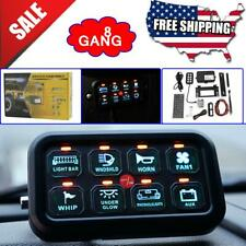 Universal 8 Gang On-Off Control Switch Panel for Jeep Dodge Ford ATV SUV Truck