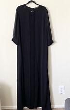 New Marina Rinaldi Made In Italy Plus Size 25 Women's Long Black Elegant Dress