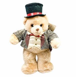 "Russ Berrie Plush Caress Soft Pets Groom 11"" Stuffed Animal Toy Tuxedo & Top Hat"