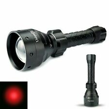 Uf1405 Zoomable Cree Xre Red Light Led Flashlight 67mm 3 Mode Torch for Hunting