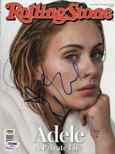 Adele Adkins Signed Rolling Stone Magazine PSA DNA COA LOA Autograph #AB00534