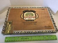 """Arturo Fuente Empty Cigar Box Chateau Fuente Craft Wood Large 13""""x8.5""""x1.5"""" EUC"""