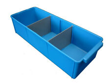 8 X Plastic Spare Parts Tray 400L x 148W x 100H Compartment Divider Storage Bin