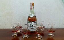 Napoleon French Brandy Maroy VSOP 1960 + 6 bicchieri coppe cognac vintage regalo