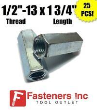 Qty 25 12 13 X W1116 X L 1 34 Coarse Grade A Hex Rod Coupling Nut Zinc