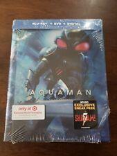 Aquaman (2018) Blu-Ray + Dvd+ Slipcover Dc Target Exclusive Book No Digital