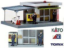 KATO 047 by TOMIX  STAZIONE di POLIZIA con LUCE LED ROSSA POLICE STATION SCALA-N