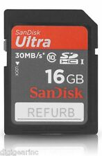 SanDisk Ultra 16GB High Speed SD SDHC Full HD Flash Memory Card 30MB/S Class 10