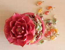 Moule Silicone Boîte à bijoux perles accessoires LOTUS pour Platre Resine Savon