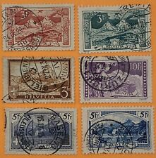Switzerland 6 High Value Stamps Used