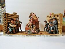 Lionstone Western Shoot Out At The OK Corral 3 Piece Decanter Set